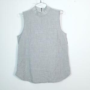 Ann Taylor LOFT Sleeveless Zip Up Back Shirt